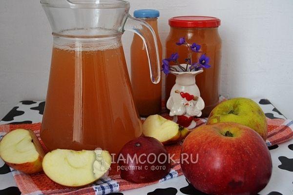 Яблочный сок без сахара на зиму