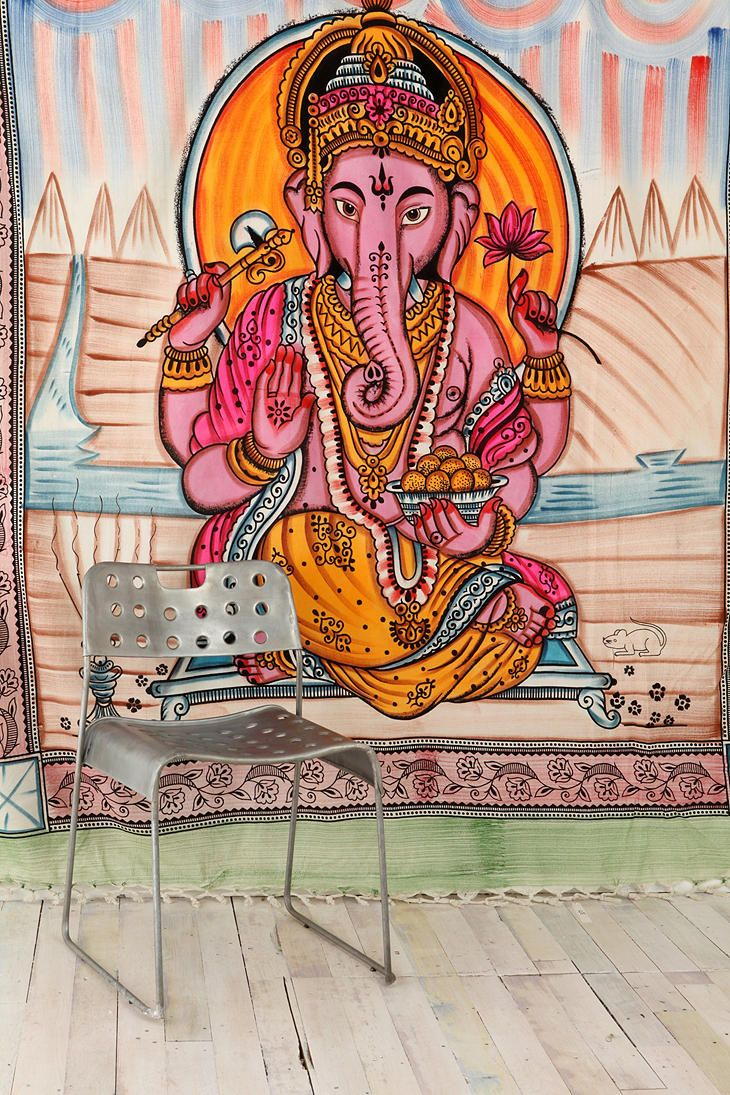 "Ganesh,remover of obstacles! sooo colorful,this would look great in my ""zen room"""