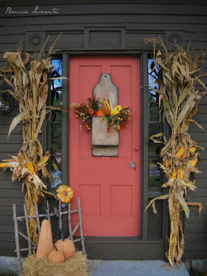 Best 25+ Fall Front Doors Ideas On Pinterest | House Styles, Holiday Door  Wreaths And Spring Door Wreaths