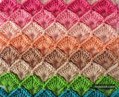 This would be a cute stitch to use on the temperature blanket, if I ever got around to making one....