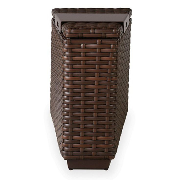 Outdoor Lloyd Flanders Contempo Storage Wedge End Table - 38019068