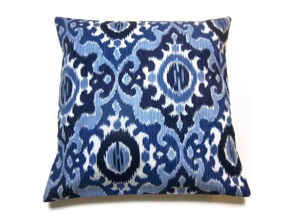 Powder Blue Decorative Pillows : Decorative Pillow Cover Navy Blue Powder Blue by LynnesThisandThat, $20.00 Ideas for the House ...