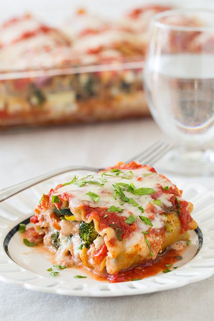 Roasted Vegetable Lasagna Roll Ups - these are loaded with so many fresh veggies and they are  unbelievably good!! I liked them just as much if not better than a meaty lasagna and I'll probably be making them more than the traditional since they are healthier.