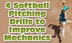 Because it is very technical, we need softball pitching drills for each part of the pitching mechanic to increase muscle memory of the movement & activity.
