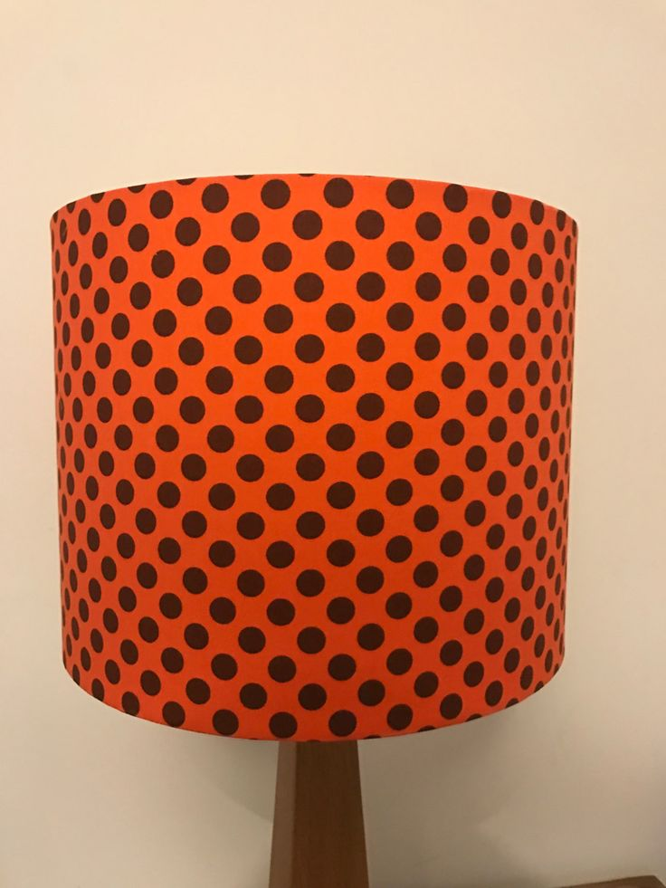 Orange Lampshade With Brown Dots