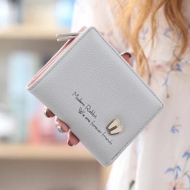 Women Leather Clutch Short Wallet PU Card Holder Purse Handbag Bags