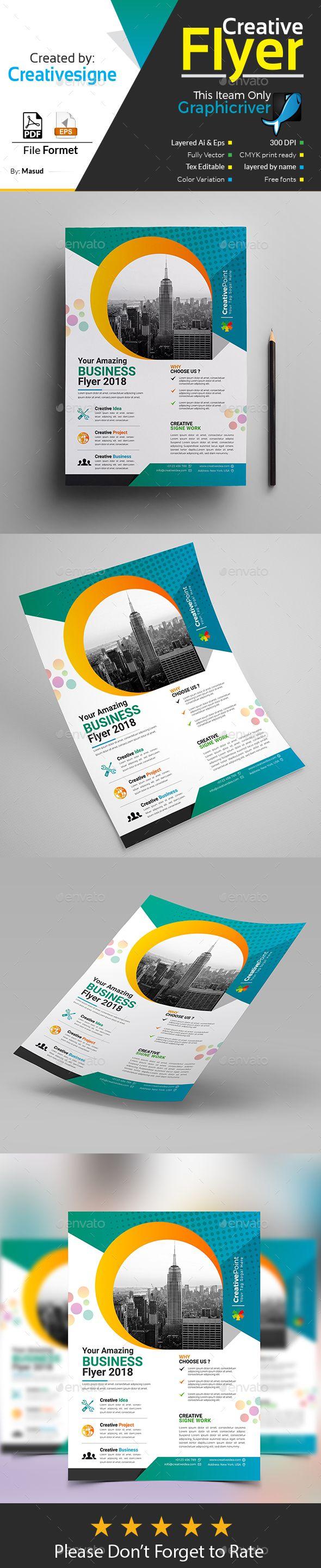 Business Flyer Template Vector EPS, AI Illustrator