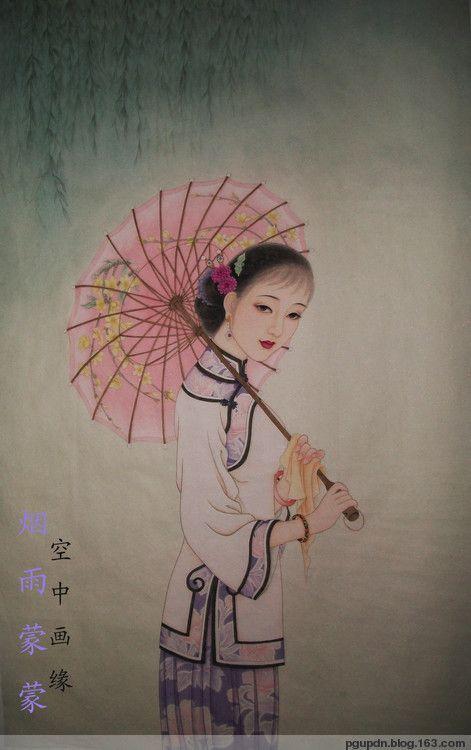女画家王爱莲的工笔画 ...@蓝梦采集到民国绮梦-----民国风 工笔仕女(719图)_花瓣人文艺术