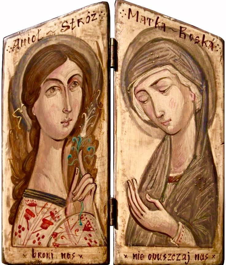 Annunciation diptych by Sergiusz Pomian of Moldova - contemporary