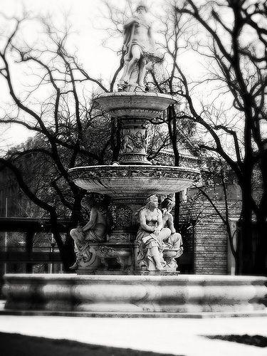 Danubius Fountain, Erzsébet square (Vth district of Budapest) - Hungary