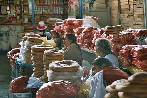 Market Day, Peru (analog photography)