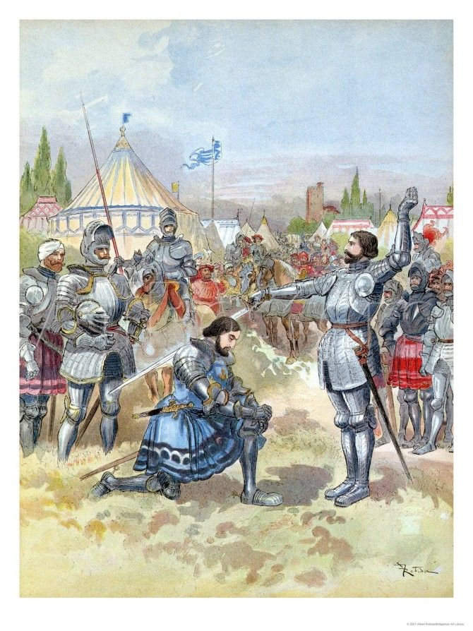 Chevalier de Bayard (1473-1524), the knight above fear and reproach, was widely respected as a paragon of the knightly virtues. He served three French kings in the Italian Wars before, ironically, he was killed by one of the harbingers of non-chivalric warfare--the arquebus.