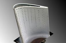 """jet engine hp turbine blade with """"film cooling"""" holes.  ~ mikE™"""
