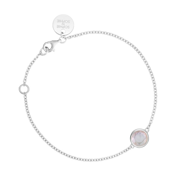 Birthstone bracelet April