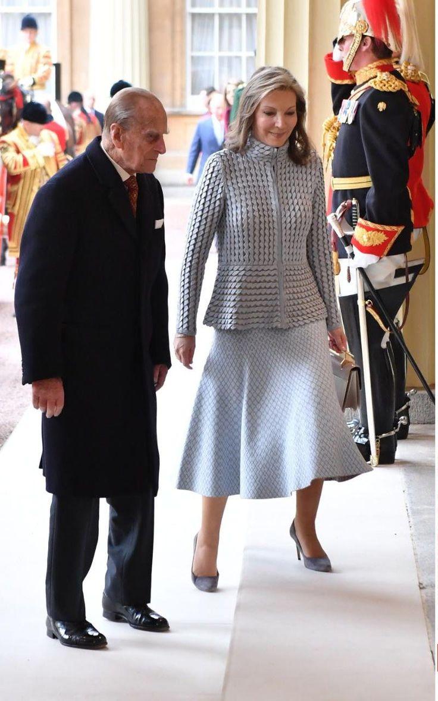 Prince Philip and Maria Clemencia Rodriguez Munera De Santos