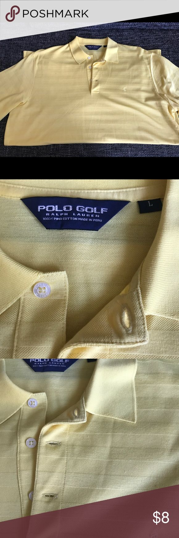 Used Ralph Lauren PoloGolf - Polo Yellow Size L Used Early 2000s Ralph Laure PoloGolf Polo In Yellow and size Men's Large, Purchased from Macys SF. Condition is very good, no stains of Damages. If you have any questions??? Please feel free to contact me, ThankYou for passing through my closet!! Polo by Ralph Lauren Shirts Polos
