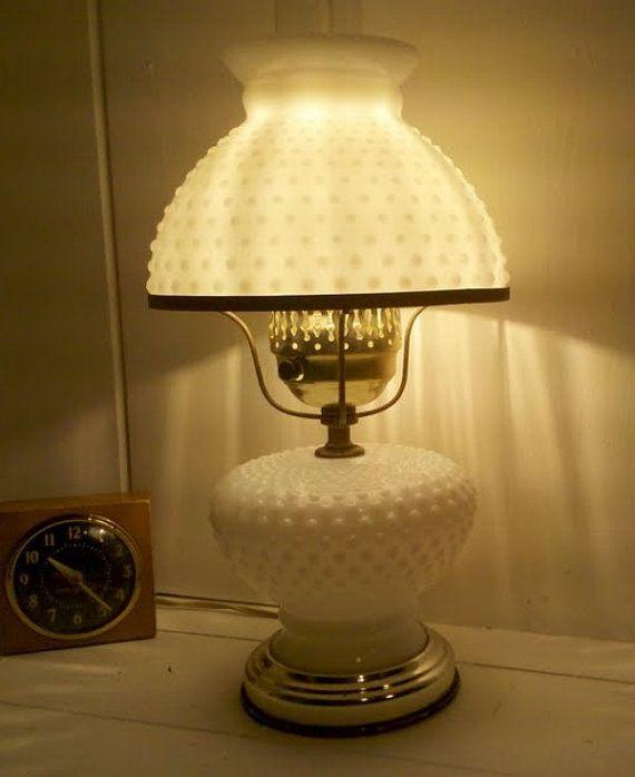 Vintage milk glass lamp — 3
