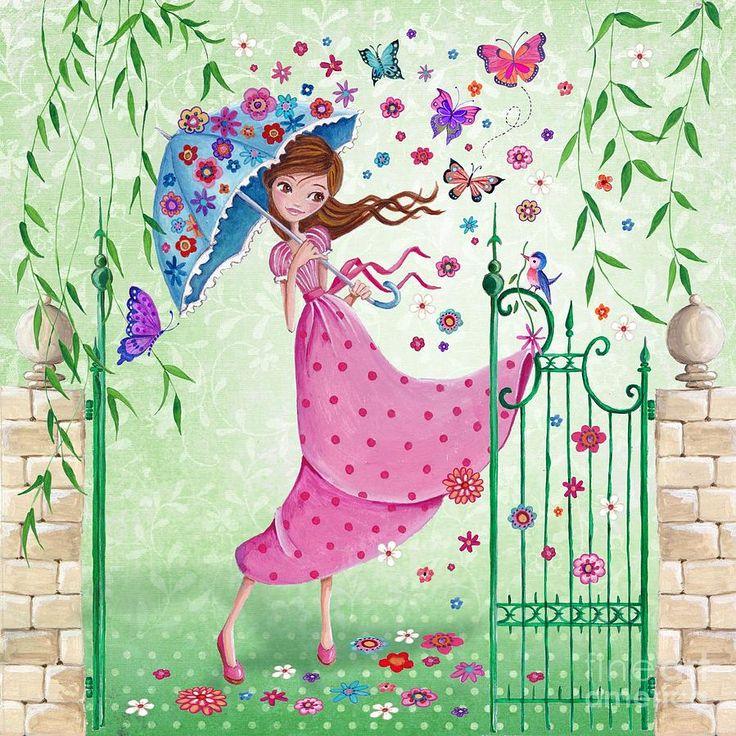 Flying Flowers ~ Artist: Caroline Bonne-Muller