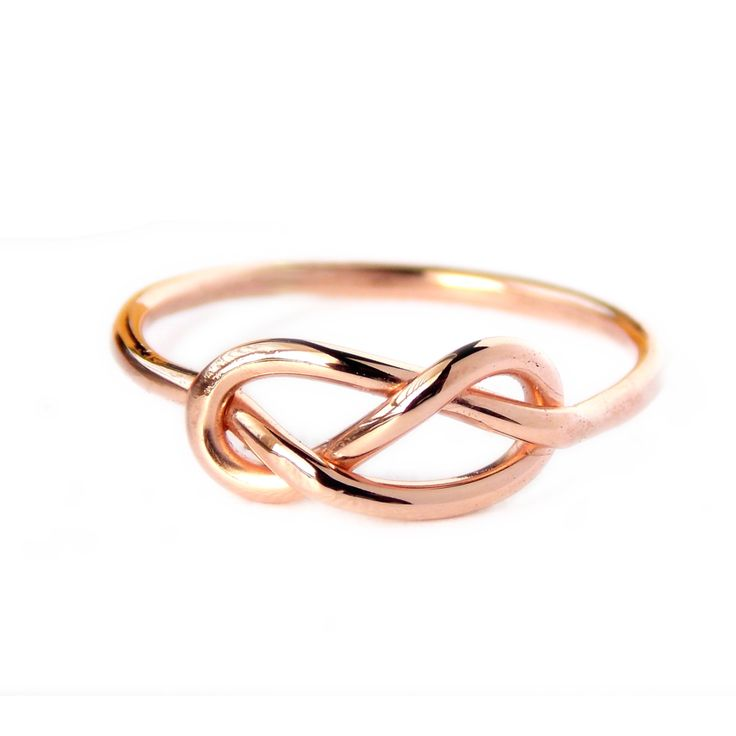 This Infinity Knot Ring is made from beautiful rose gold-filled wire, also known as pink gold. It's a dainty ring that shows your forever love, friendship, and appreciation for a special someone wheth