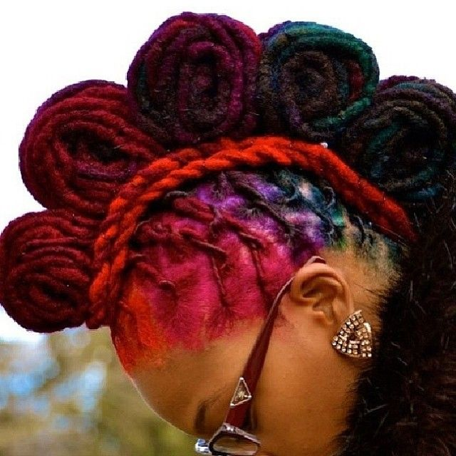 186 Best Images About Somewhat Natural Locs Colorful On