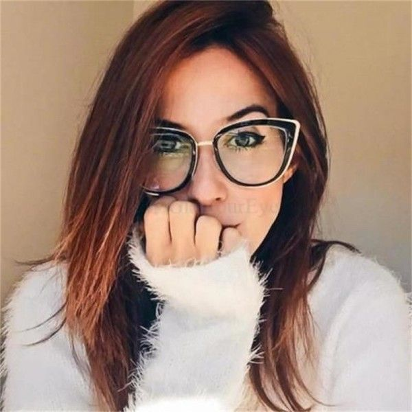 Fashion Spectacles Transparent Frame Glasses Brand Designer Cat