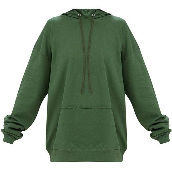Red Oversized Hoodie ($36) ❤ liked on Polyvore featuring tops, hoodies, green hoodie, oversized hoodie, hooded sweatshirt, oversized tops and hooded pullover