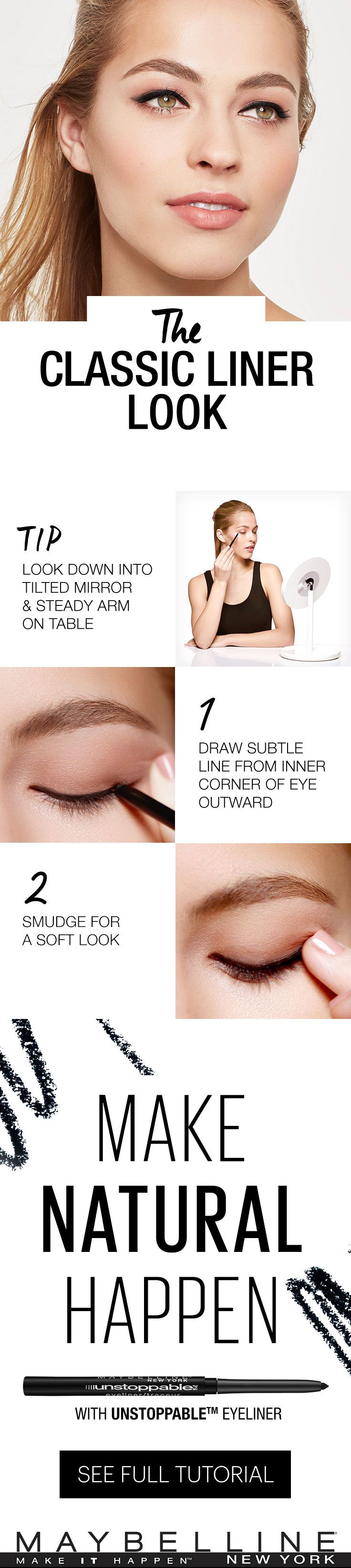 An easy DIY tutoral to the classic eyeliner look. Tips and tricks for eyeliner beginners. Fun with make up. #eyeliner @stylexpert