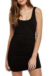 foxy ruched dress, BLACK AUS $15 half price