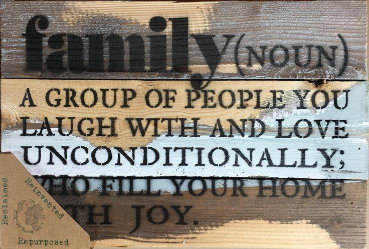 Definition of Family Wood Wall Decor - Blue Whisper 12-in