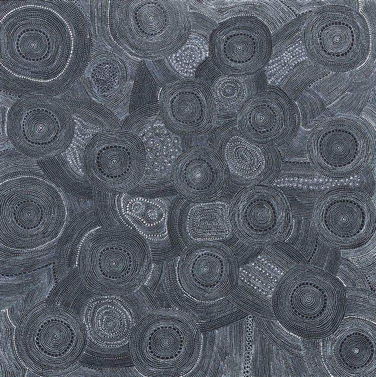 "Eva Nelson Napaltjarri, ""Ngadajirri (Budgerigar Dreaming)"" 60 x 60cm @ Muk Muk Fine Art"
