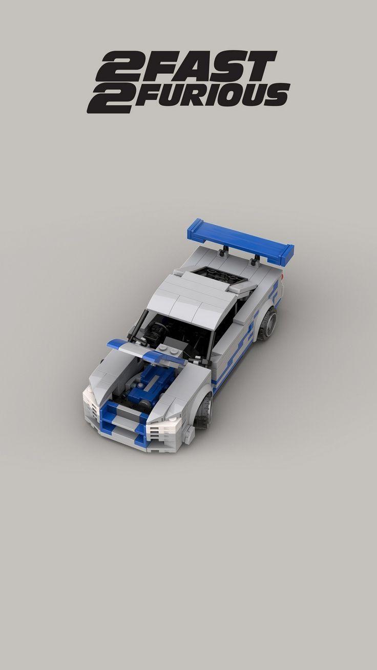 Lego Nissan Skyline GTR GTR R34 2FAST2FURIOUS Heldenauto Custom Modell moc RB26DETT   – lego