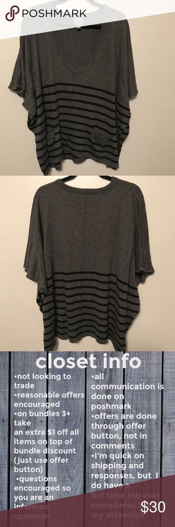 C&C California poncho sweater This sweater is in excellent used condition. Size is XS/S Fabric content: 35% nylon/35% rayon/25% wool/5% cashmere (dry clean only) *Bundle with C&C California Henley sweater for savings on both items!* C&C California Sweaters Shrugs & Ponchos