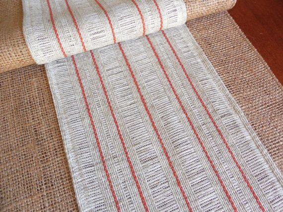 Burlap table runner Thanksgiving table runner fall table runner rustic farmhouse table runner