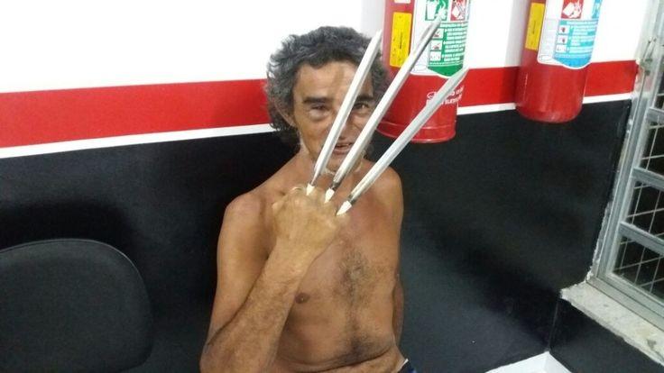 Wolverine de Peruíbe é detido por ameaçar pessoas com suas garras
