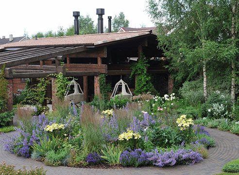 Сад ландшафтного бюро МОХ в Токсово