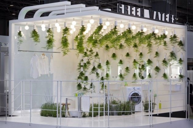 hanging plants. tradeshow.