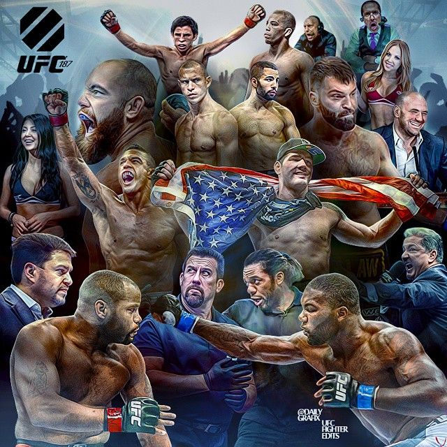 digital collage of #UFC187 : if you love #MMA, you'll love the #MixedMartialArts inspired fashion at CageCult: http://cagecult.com/mma
