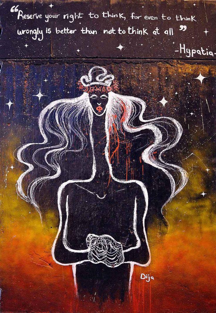 'Hipatia', por Khadija Mostafa  - Mujeres y arte en los muros árabes