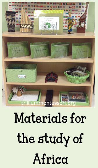 Africa Continent Studies from Trillium Montessori