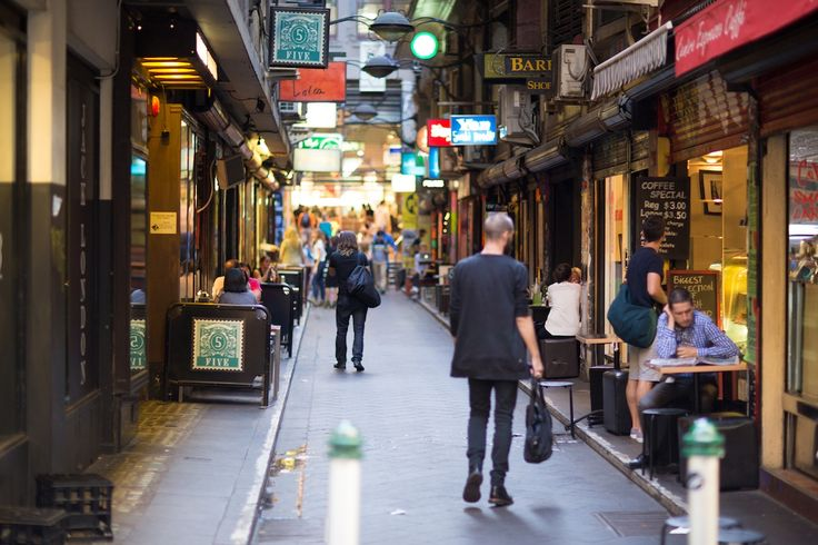 Interesting laneways with intriguing shops and great coffee
