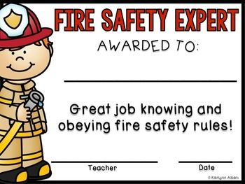 Fire Safety award for fire safety/prevention week!