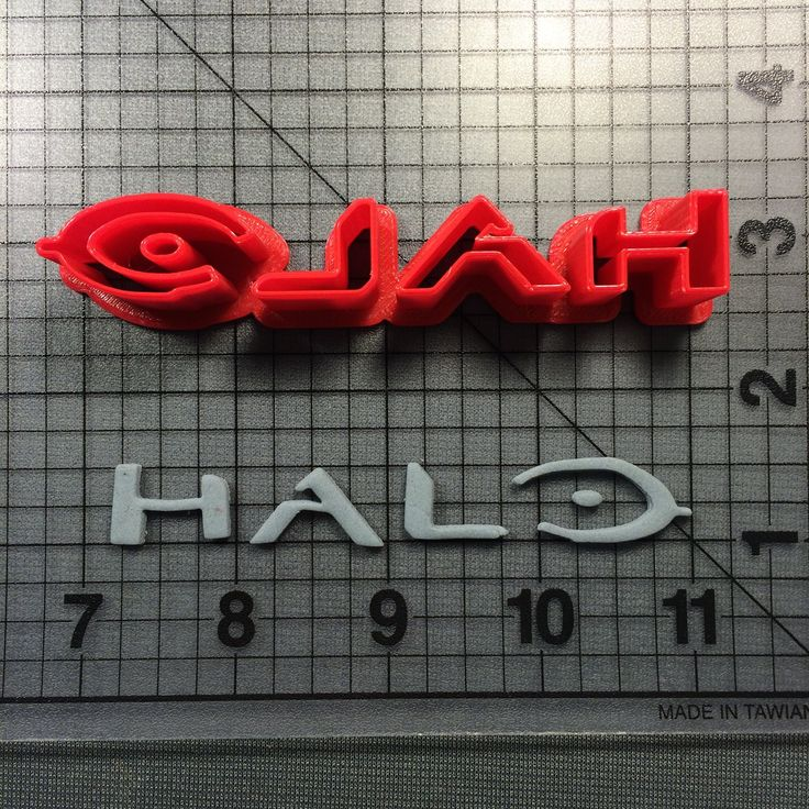 Halo Logo Cookie Cutter