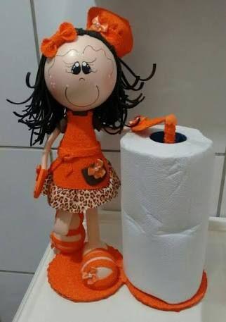 boneca eva porta papel - Buscar con Google