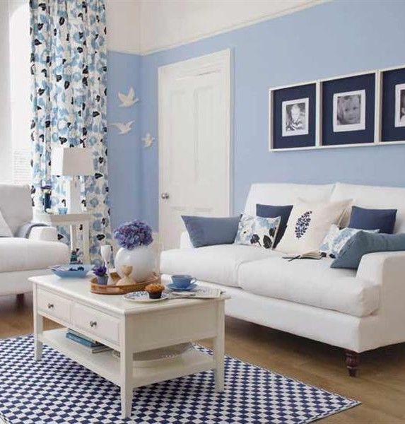 Living Room Blue Painting Colors And Modern White Sofa Also Small Space Living Room With Winsome Interior Design Laminating Wooden Floor Briliant Ways To Make Small Living Room Ideas To Optimize the Most of Your Space