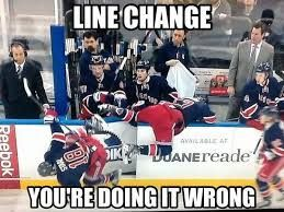 funny hockey pictures Doing a line change right