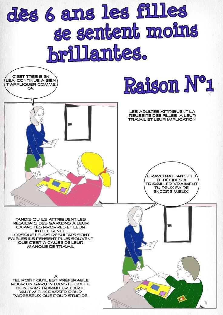 Pourquoi les filles se sentent moins brillantes. Raison N°1 http://blog.plafonddeverre.fr/