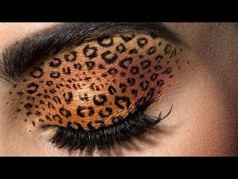 Leopard Eyes: HD Makeup Tutorial - YouTube. Jordan Liberty creates a glamorous Halloween-chic look on model Brooke Quinn.