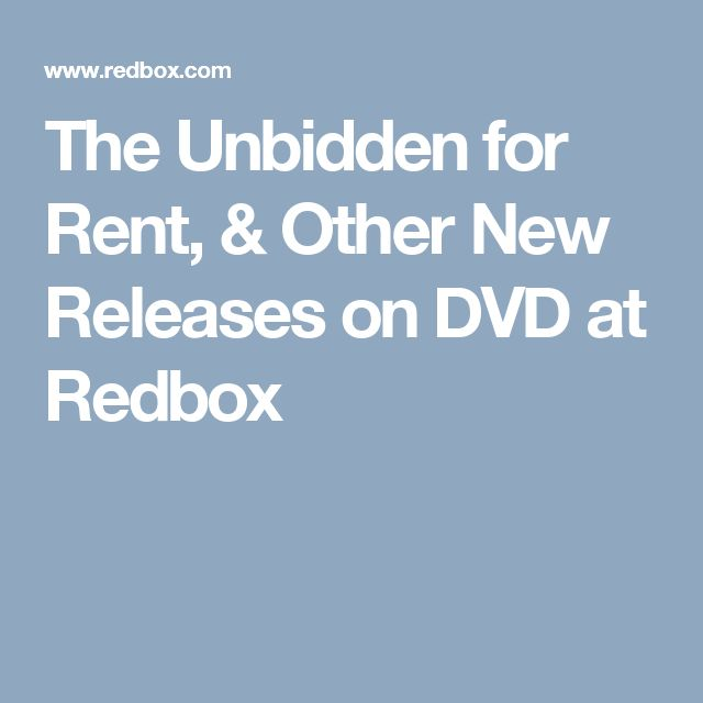 The Unbidden for Rent, & Other New Releases on DVD at Redbox