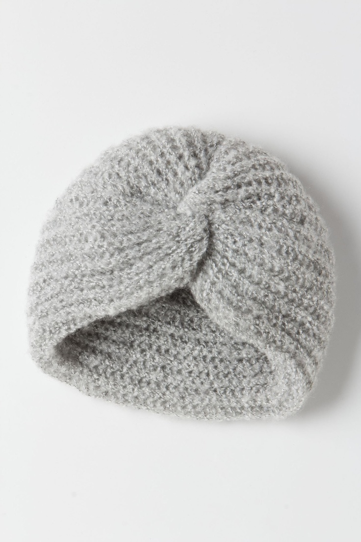 This is adorably sophisticated, and I bet it solves that problem of having to choose between having your eyes uncovered or your ears covered. {Santelli Kismet Knit Turban}