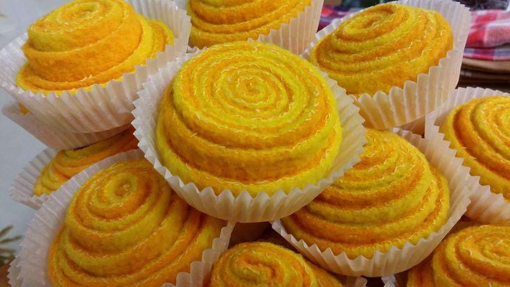 Aurinkoiset leivokset nuppineulatyynyiksi tai lasten leikkeihin